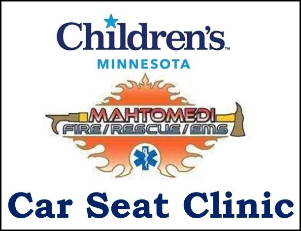 Children's MN Mahtomedi Fire CarSeat Clinic Logo (IMAGE)