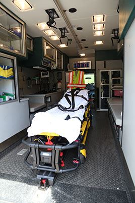 Ambulance 850 Back Interior