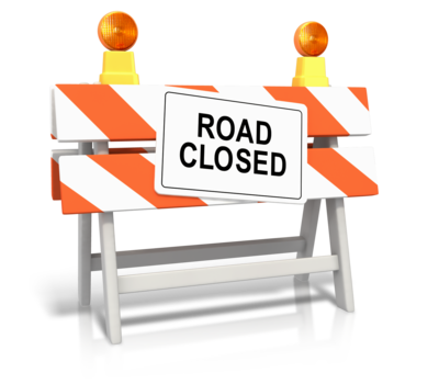 Road Closed Sign (IMAGE)