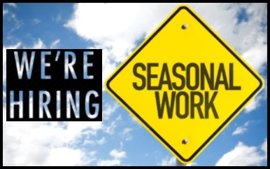 Were Hiring Seasonal Work (IMAGE)