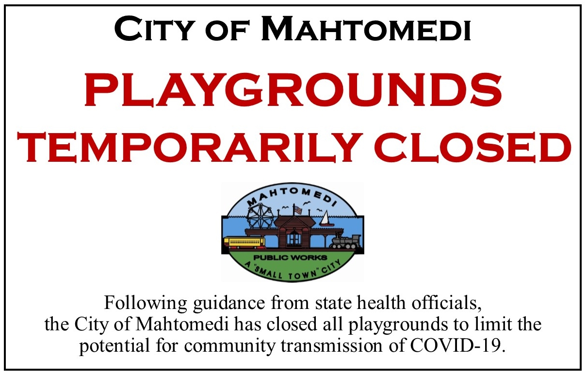 Covid-19 Playgrounds Closed Sign (IMAGE)